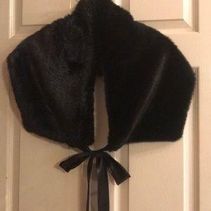 Faux fur evening wrap. One size